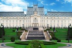 文化宫殿Iasi在中心广场在Iasi镇 罗马尼亚 免版税库存照片