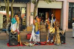 文化的节日的地方街道音乐家 免版税图库摄影