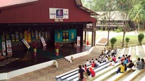 文化舞蹈在微型马来西亚和东南亚国家联盟文化公园Melaka 免版税库存图片