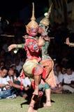 文化舞蹈戏曲泰国khon的显示 免版税库存图片