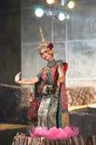 文化舞蹈戏曲泰国khon的显示 免版税库存照片