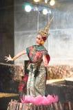 文化舞蹈戏曲泰国khon的显示 免版税图库摄影