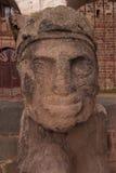 文化雕象tiwanaku 免版税库存照片
