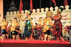 文化鼓舞蹈展示 免版税库存照片