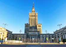 文化,华沙,波兰宫殿  免版税库存图片
