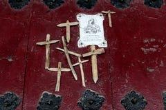 文塔de Iturrioz在巴斯克地区 免版税库存照片