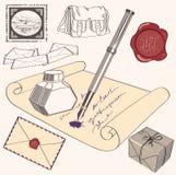 文字信件的过程 库存图片