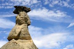文字在石头省公园不祥之物 免版税库存照片