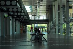 文字学的Departtment内部,索斯诺维茨 免版税库存图片