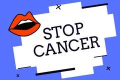文字笔记陈列中止巨蟹星座 采取活跃措施企业照片陈列的实践削减癌症的率 向量例证