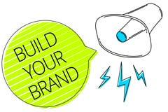 文字笔记陈列修造您的品牌 企业照片陈列做一个商业身分营销广告三条线te 皇族释放例证