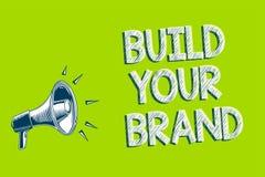 文字笔记陈列修造您的品牌 企业照片陈列做一件商业身分营销广告艺术品转达 库存例证