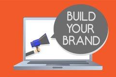 文字笔记陈列修造您的品牌 企业照片陈列做一商业身分营销广告网络messag 皇族释放例证