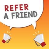 文字笔记陈列提到一个朋友 企业照片陈列的推荐任命在任务合格的某人 库存例证