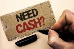 文字笔记陈列需要现金问题 陈列财富问题贫穷货币金钱忠告概念性的企业照片书面 图库摄影