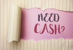 文字笔记陈列需要现金问题 陈列财富问题贫穷货币金钱忠告概念性的企业照片书面 免版税库存图片