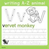 文字a-z动物的以图例解释者v 向量例证