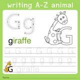 文字a-z动物g的以图例解释者 向量例证