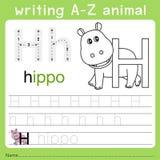 文字a-z动物h的以图例解释者 库存例证