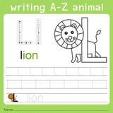 文字a-z动物l的以图例解释者 向量例证