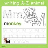 文字a-z动物m的以图例解释者 皇族释放例证