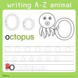 文字a-z动物o的以图例解释者 皇族释放例证