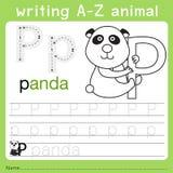 文字a-z动物p的以图例解释者 向量例证
