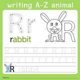文字a-z动物r的以图例解释者 皇族释放例证