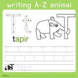 文字a-z动物t的以图例解释者 皇族释放例证