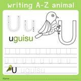 文字a-z动物u的以图例解释者 库存例证