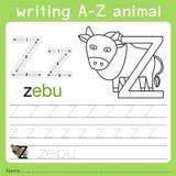 文字a-z动物z的以图例解释者 皇族释放例证