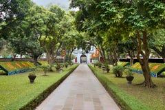 文学寺庙在河内 免版税图库摄影