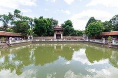文学寺庙的第三个庭院在河内,越南 免版税库存照片