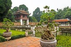 文学寺庙范Mieu在河内 免版税库存图片