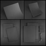 文教用品布景 文具模板 艺术品企业公司本体模板向量 免版税库存照片