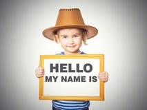 文本你好我的名字是 免版税库存图片
