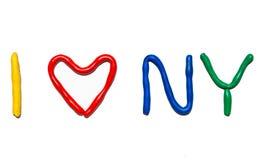 文本我爱NY 免版税库存图片