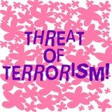 文本标志恐怖主义陈列威胁  概念性照片不合法的用途暴力和威逼反对平民 皇族释放例证