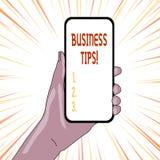 文本标志演艺界技巧 概念性照片把戏或想法关于怎样开始或跑一家小企业 向量例证