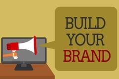 文本标志陈列修造您的品牌 概念性照片做一个商业身分营销广告社会媒介网络conve 皇族释放例证