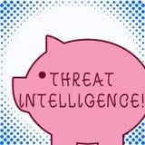 文本标志陈列威胁智力 概念性关于潜在的攻击的照片被分析的和被提炼的信息 皇族释放例证