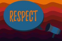 文本标志陈列尊敬 深刻的倾慕的概念性照片感觉对某人或某事的欣赏 向量例证