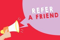 文本标志陈列提到一个朋友 概念性照片推荐任命在任务合格的某人 向量例证