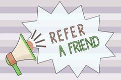 文本标志陈列提到一个朋友 概念性照片推荐任命在任务合格的某人 皇族释放例证