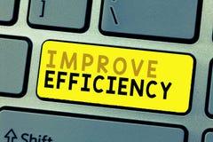文本标志陈列改进效率 在表现的概念性照片能力与最少白费力气 免版税库存照片