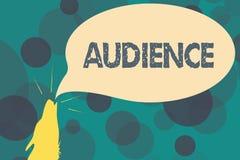 文本标志陈列观众 公开事件正式采访的概念性照片观众与当局 向量例证