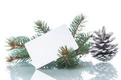 文本的空白与圣诞节装饰品 免版税图库摄影