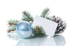 文本的空白与圣诞节装饰品 库存图片