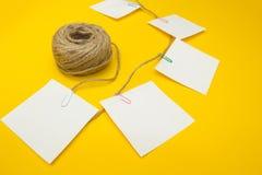 文本的空间在笔记的纸 库存图片