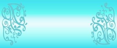 文本的空间 蓝色梯度背景 免版税库存图片